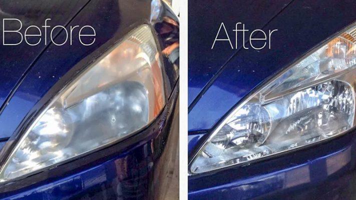 Trước và sau khi tân trang, phục hồi đèn pha mờ